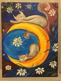Коты ( акрил)