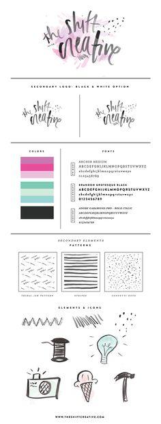 The Shift Creative Branding | via Kayla Adams Graphic, Style Guid