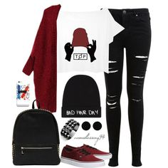 Twenty One Pilots Kind Of Day by avonsblessing94 on Polyvore featuring polyvore, fashion, style, Miss Selfridge, Vans, Deux Lux, Waterford, AeraVida, Local Heroes and clothing