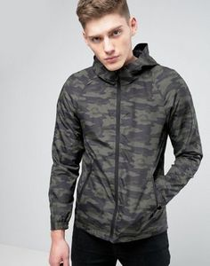 Only & Sons Light Weight Hooded Jacket in Camo Print