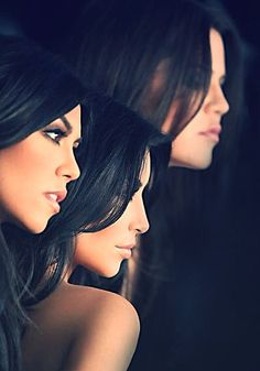 The Kardashian Sisters.- If I start spelling my name 'klaire' with a 'k',  can I be one??...pleeease?! Lol!
