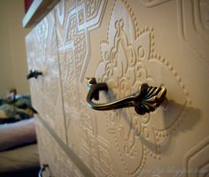 Ikea Malm Dresser Makeover using wallpaper and paint