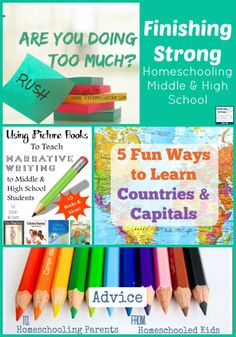 Finishing Strong- Homeschooling the Middle & High School Years Week 45
