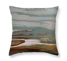Day at the Gulf VII Pillow by  Coastal Living Art Acrylic ~  #beachpillow#coastalhomedecor#nauticaldecor#nauticalpillow#beachdecor#throwpillow#homedecor