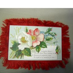 Vintage New Years Card  Two Sided Fiber by vintageartssupplies, $6.90