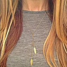 2015 nova Vintage Steampunk New Leaf banhado a ouro colar de corrente camisola longa colares declaração de jóias para as mulheres por atacado(China (Mainland))