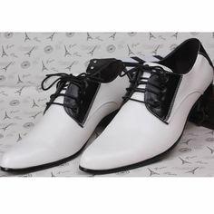 White Black Lace Up Wedding Prom Dress Oxford Shoes Shoe Store Men SKU-1100153