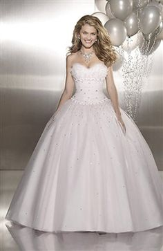 Ball Gown Sweetheart Floor-length Sleeveless Beading Sweet 16 #Dress Style Code: 05459 $174