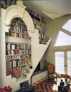 This is my dream home library/reading nook! Future House, My House, House Wall, Deco Design, Design Case, Design Design, Clever Design, Interior Exterior, Interior Design