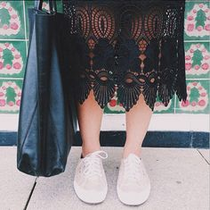 Spunk up any evening dress for the day with a pair of Superga.