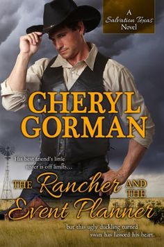 The Rancher and The Event Planner (A Salvation Texas Novel) by Cheryl Gorman, http://www.amazon.com/dp/B00CIDGYQG/ref=cm_sw_r_pi_dp_H6JSrb0XB3WH3