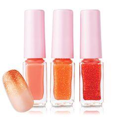[Etude House] Juicy Cocktail Gradation Nails Polish Set (No.01 Screw Driver)  Price: US $6.32  Description: Shining, shimmering nail polish.  Visit: http://cgi.ebay.com/ws/eBayISAPI.dll?ViewItem&item=231020765194&ssPageName=STRK:MESE:IT