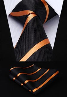 """*The designs shown above are included in the 3- set combo pack and may not be exchanged for different designs.Can not be combine with any other discount or coupon. 2pc Silk Tie SetColors: Black Rust,Blue White Yellow,Purple Grey59"""" Length, 3.4"""" WidthMatching pocket square Sharp Dressed Man, Well Dressed Men, Moda Men, Shirt And Tie Combinations, Fashion Night, Men's Fashion, Fashion Tips, Mens Silk Ties, Wedding Men"""