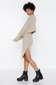 e791afeaef5 Don t Let the Side Down Knit Skirt