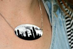 Use shrink plastic to make a necklace of your favorite photo.