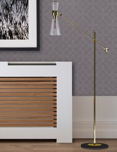 Mitte Floor Lamp | Gold polished brass lamps