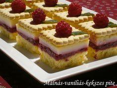Málnás-vaníliás-kekszes pite Cheesecake, Cakes, Food, Inspiration, Biblical Inspiration, Cake Makers, Cheesecakes, Kuchen, Essen