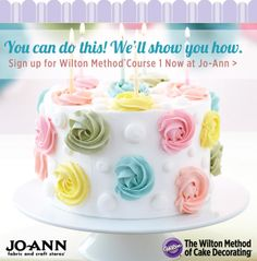 Build buttercream skills you can use for all decorating projects - from cupcakes to cakes for any occasion. Sign up for the new Wilton Course 1: Building Buttercream Skills today!