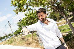 "Konstantinos Argiros - ""Esena thelw"" videoclip Handsome, Coat, Singers, Greek, Fashion, Video Clip, Moda, Fashion Styles, Singer"