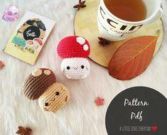 Free Pattern, Make Your Own, Amigurumi Doll, Stuffed Mushrooms, Cute Diys, Cute Crafts, Diy Crafts, Crochet Projects, Baby Shoes