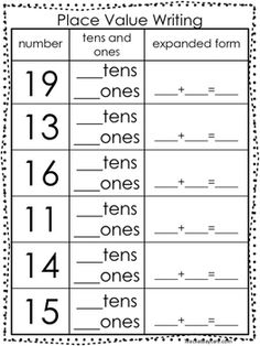 Expanded Form Tens And Ones Is Expanded Form Tens And Ones Still Relevant? – expanded form tens and ones Tens And Ones Worksheets, Expanded Form Worksheets, Worksheets For Class 1, Place Value Worksheets, First Grade Math Worksheets, Math Place Value, Second Grade Math, Place Values, Kindergarten Worksheets