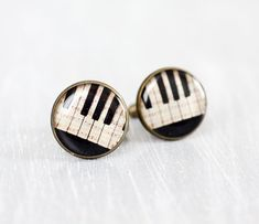 Chris: Men cufflinks - Music cufflinks - Vintage Piano keys - Cuff links for men - Free Shipping on Etsy, $23.00