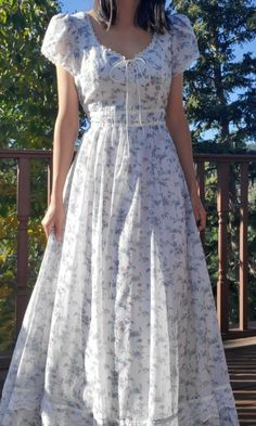 Pretty Outfits, Pretty Dresses, Beautiful Dresses, Cute Outfits, Aesthetic Fashion, Aesthetic Clothes, Woman Dresses, Fashion Dresses, Gunne Sax