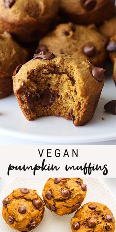 Full of pumpkin flavor and fall spice, these healthy vegan pumpkin muffins are naturally sweetened and made with simple pantry staple ingredients. They're perfectly moist and fluffy!
