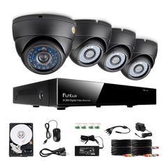 Funlux® 8CH HDMI DVR Outdoor CCTV Cameras Best Home Security System DIY 500GB HD #Funlux