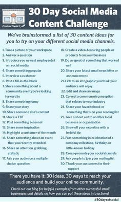 25 things you can do to market your business pinterest business not sure what to post on social media try these 30 ideas fandeluxe Choice Image