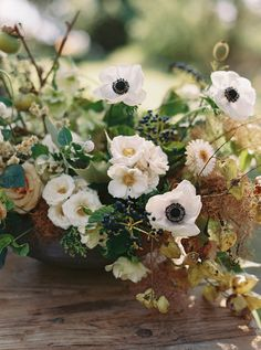textural summer time white, pale pink and green blooms.