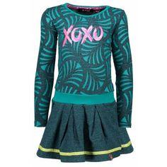 b7ed45874275a3 B.NOSY B.NOSY meisjes jurk turtle aqua sky