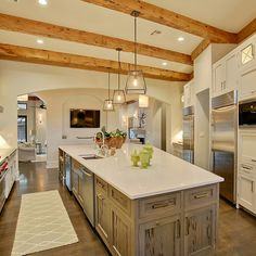 Pecky Cypress Kitchen Island Design Ideas, Pictures, Remodel, and Decor