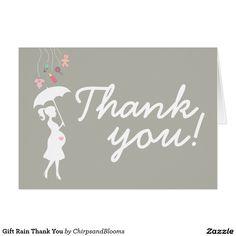 Gift Rain Thank You Card