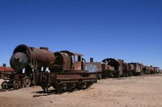 Train Cemetery . . . Salt Flats . . . Bolivia Sea Level, Bolivia, Lonely Planet, Amazing Places, Cemetery, Worlds Largest, South America, Places To Travel, Salar De Uyuni