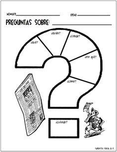PREGUNTAS SOBRE... graphic organizer for reading comprehension