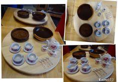 "Coffee, loose tea, a miniature tea set and some tiny spoons... from Rachel ("",)"