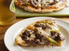 Philly Cheese Steak Pizza - Fun dinner idea!