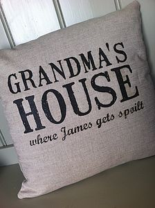 'Grandma's House' Personalised Cushion - for grandmothers