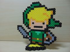 Little Link With Triforce Piece Perler Stand by Perler-Pop