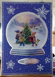 Christmas Card (11) - A5 - makings from Hunkydory 'Snowy Season'