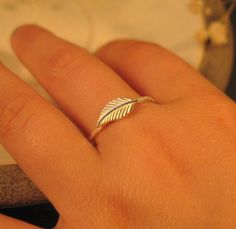 Sterling silver leaf ring,  stacking ring, BLACK FRIDAY SALE. nature inspired jewelry. $24.00, via Etsy.