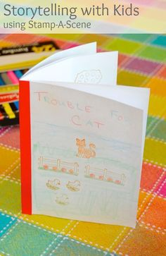 {Story Telling with Stamps} Simple storytelling activity you can try with even very young children who may be too young to write on their own