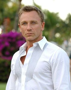 Daniel Craig-  true story: I went to the doc the other day and the doctor looked like a younger version of Daniel Craig.  And I was a sick, snotty, hot mess. Then he mentioned he could be my OBGYN. Hahahha! #noway