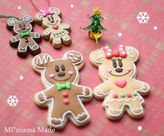 Mickey and Minnie icing cookie gingerbread Christmas