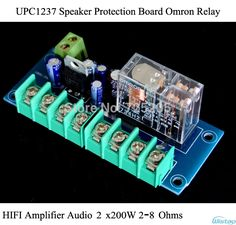 UPC1237 Speaker Protection Board Headphone Om ron Relay HIFI Amplifier Audio 200WX2 2-8 Ohms Free Adjustment DIY Free Shipping US $27.90 / lot