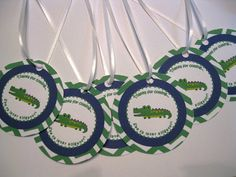 Customized Preppy Alligator Favor Tags by ImaginedMemories on Etsy, $8.00