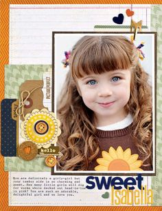 Scrapbook & Cards Today - Sweet Isabella by Melanie Blackburn