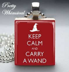 Harry Potter Jewelry  Keep Calm And Carry A by prettywhimsical, $7.95