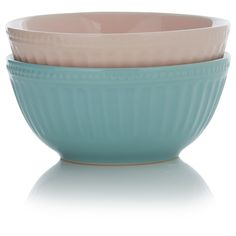 George Home Pink and Blue Vintage Bowls - 2 Pack   Dinnerware   ASDA direct